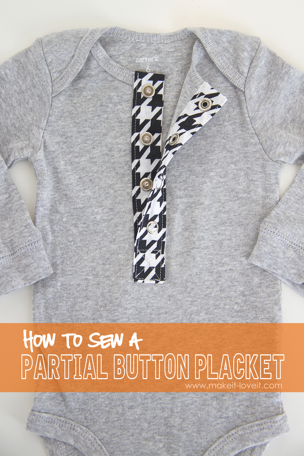 Sewing Tips: How To Sew a PARTIAL BUTTON PLACKET