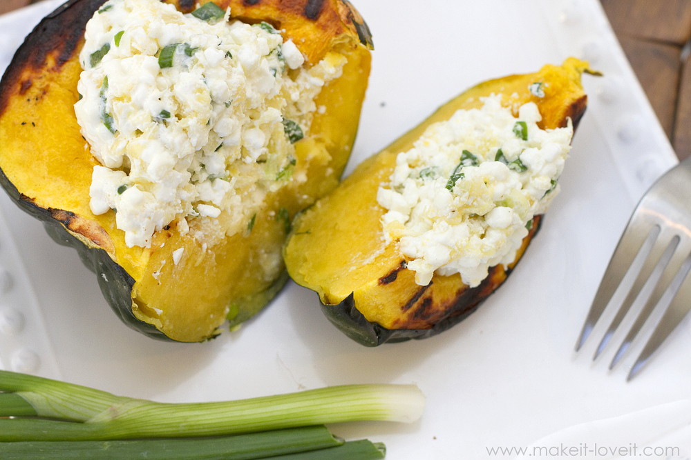 Stuffed Acorn Squash...a quick dish and full of flavor! --- Make It and Love It (in the KITCHEN)