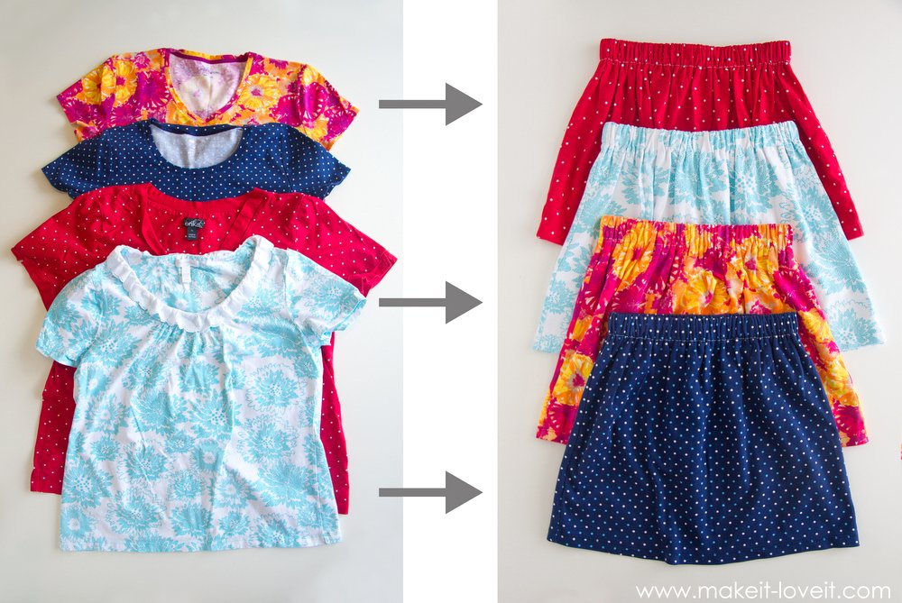 The 10 minute skirt make it love it - How to reuse old clothes well tailored ideas ...