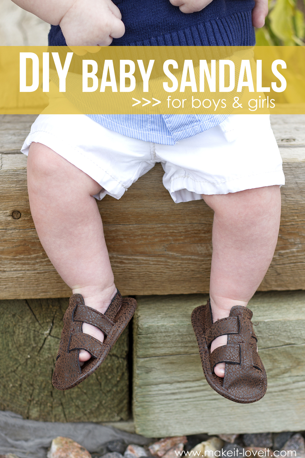 DIY Baby Sandals (for boys & girls)