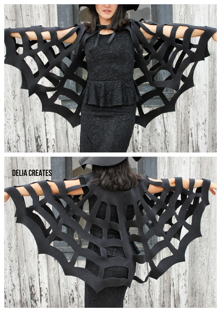 2 spider web cape