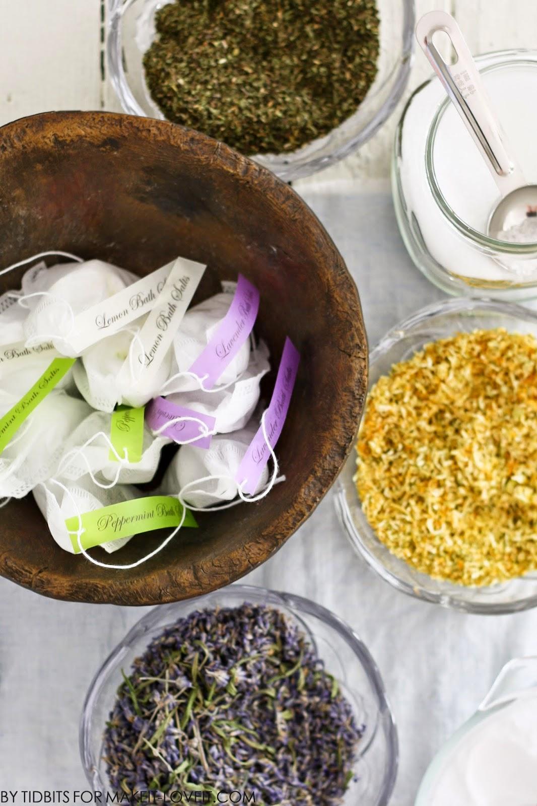Make your own BATH SALT SOAKS in a TEA BAG!