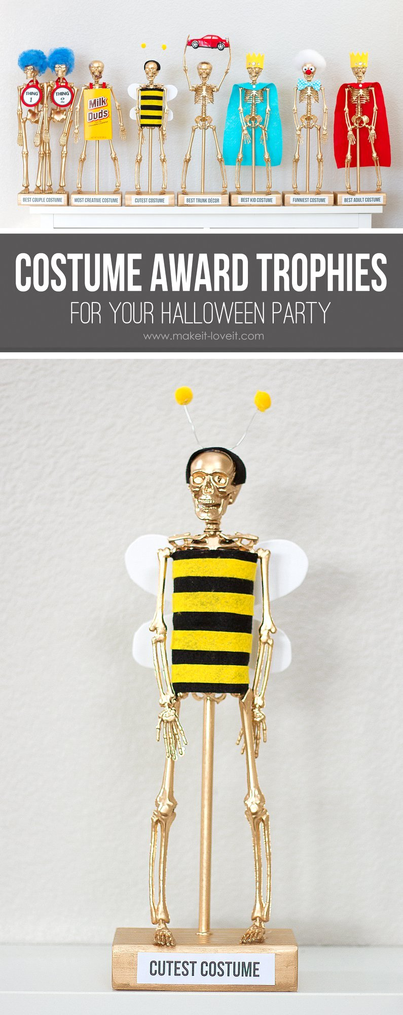 costume award trophies for your halloween party make it and love it. Black Bedroom Furniture Sets. Home Design Ideas