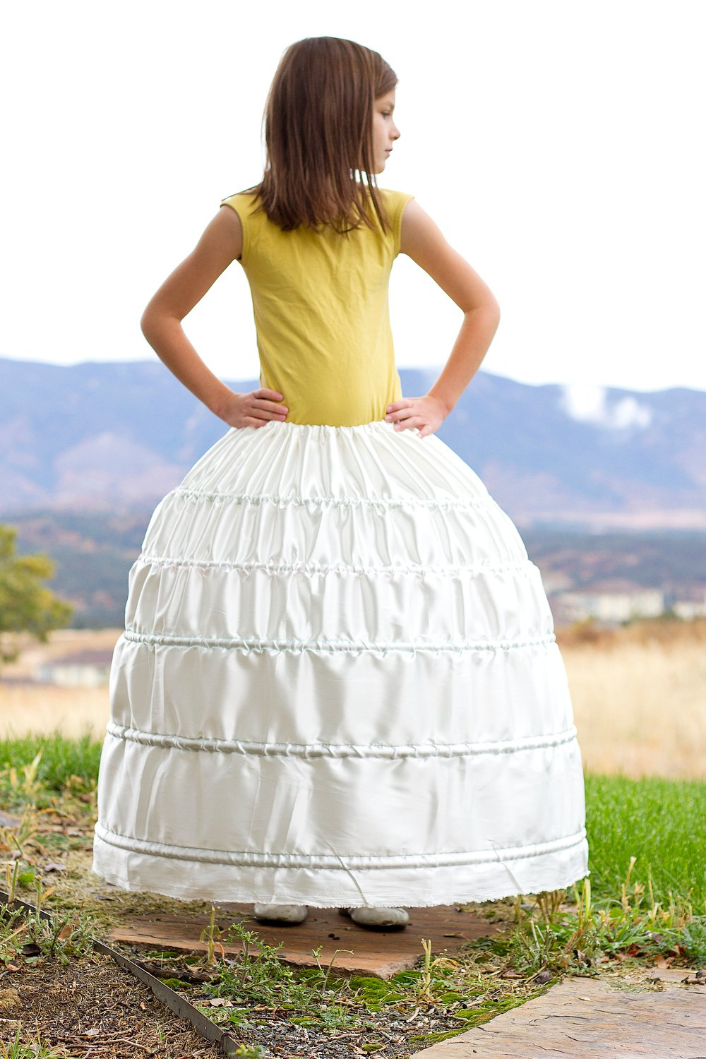 A HOOP SKIRT (…a sturdy and inexpensive version)