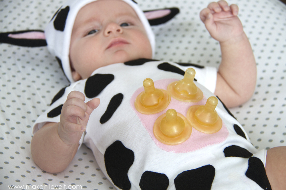 Baby cow costume with an udder make it and love it - Disfraces caseros originales ...