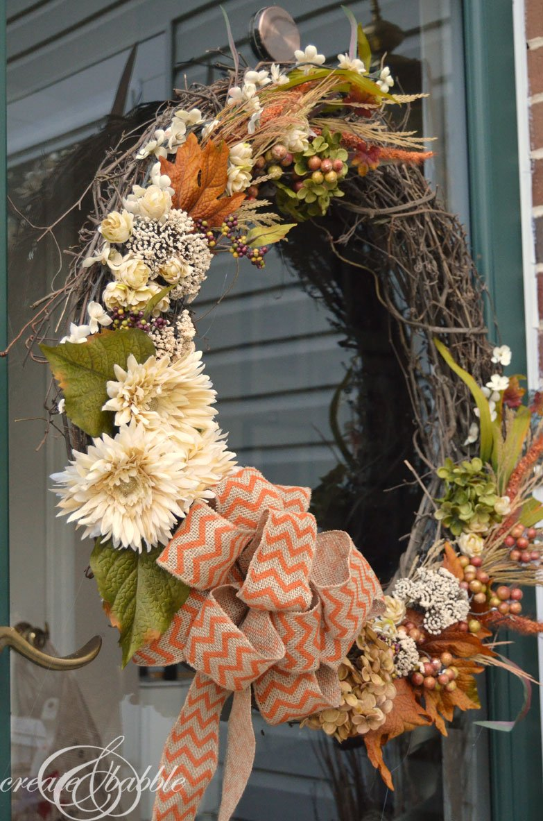 31 diy fall wreath ideas make it and love it. Black Bedroom Furniture Sets. Home Design Ideas