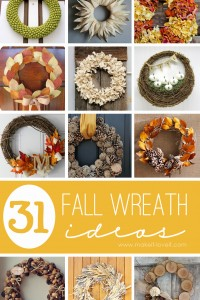 31 DIY Fall Wreath Ideas | via Make It and Love It