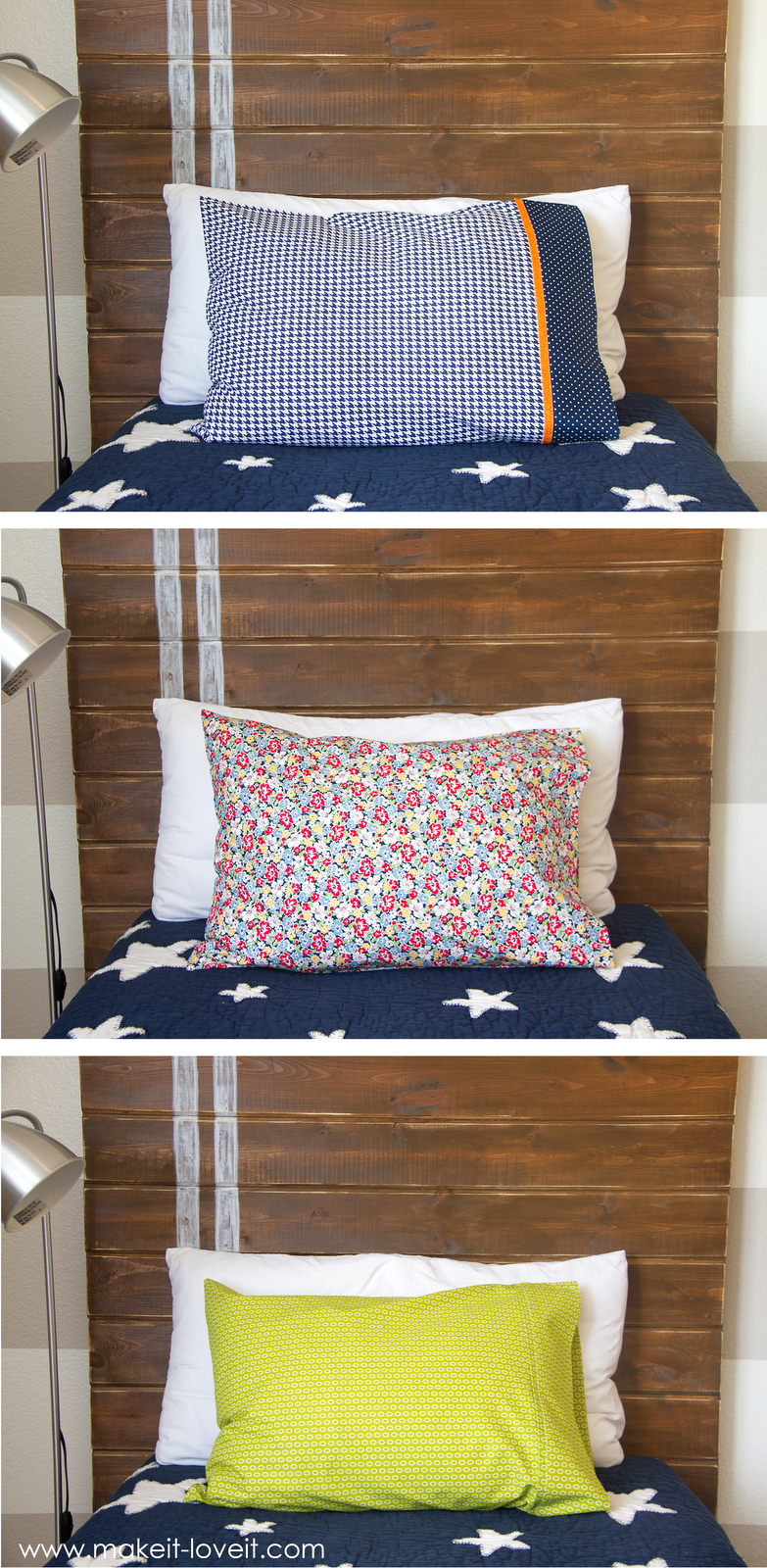 Diy King Pillowcase: DIY Bed Pillow Cases  3 sizes and 3 different styles (including    ,
