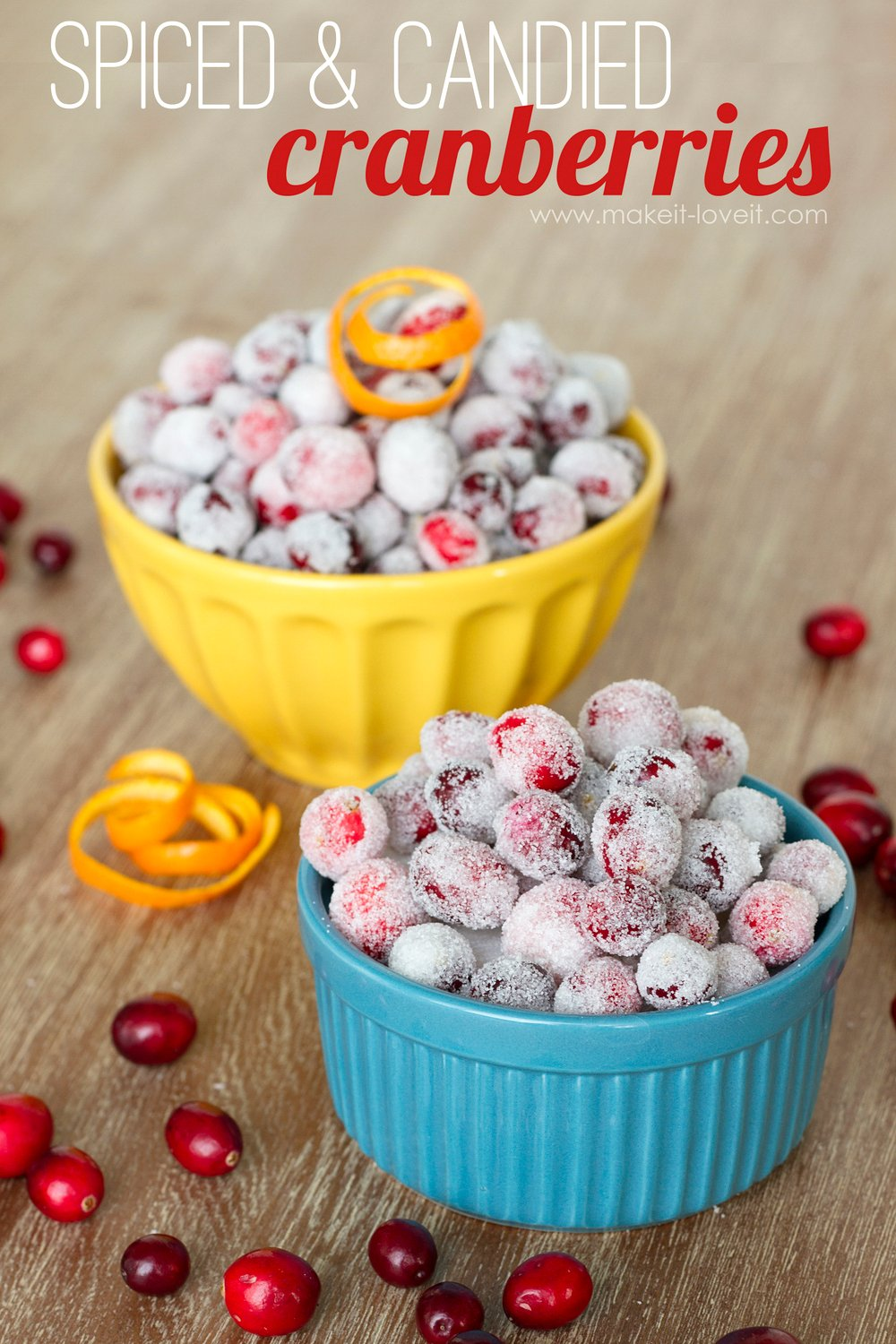 Spiced and Candied FRESH Cranberries......a yummy snack!! | via Make It and Love It