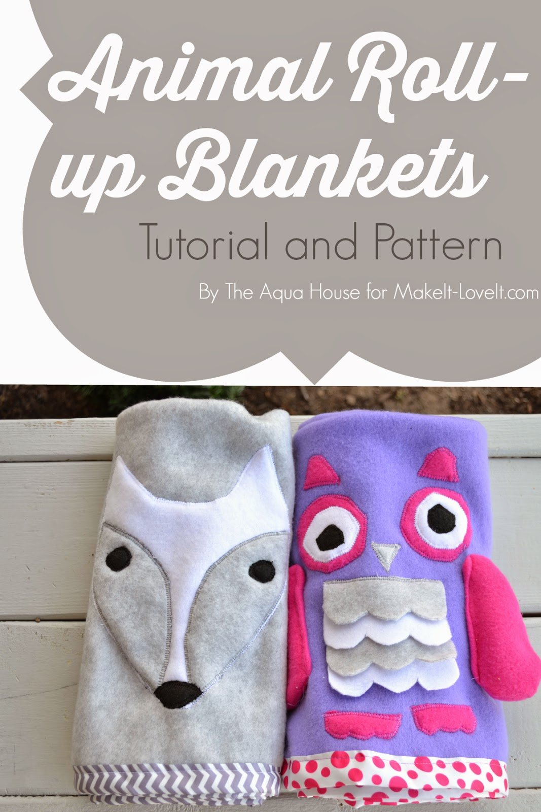 DIY Animal Roll-Up Blankets…a quick and simple gift idea!