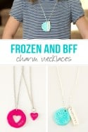 "DIY ""Frozen"" and ""BFF"" Charm Necklaces...made from polymer clay! 