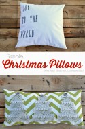 Simple DIY Christmas Pillows | via Make It and Love It