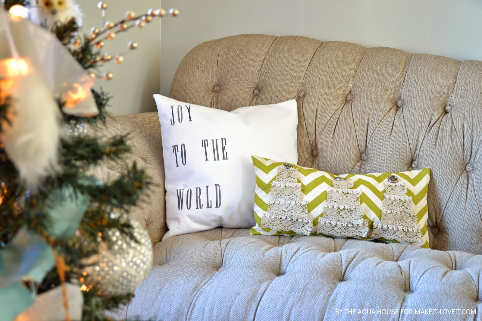 Simple DIY Christmas Pillows | Make It and Love It