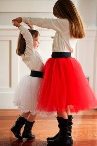 DIY Tulle Skirt...with Wide Elastic Waist Band