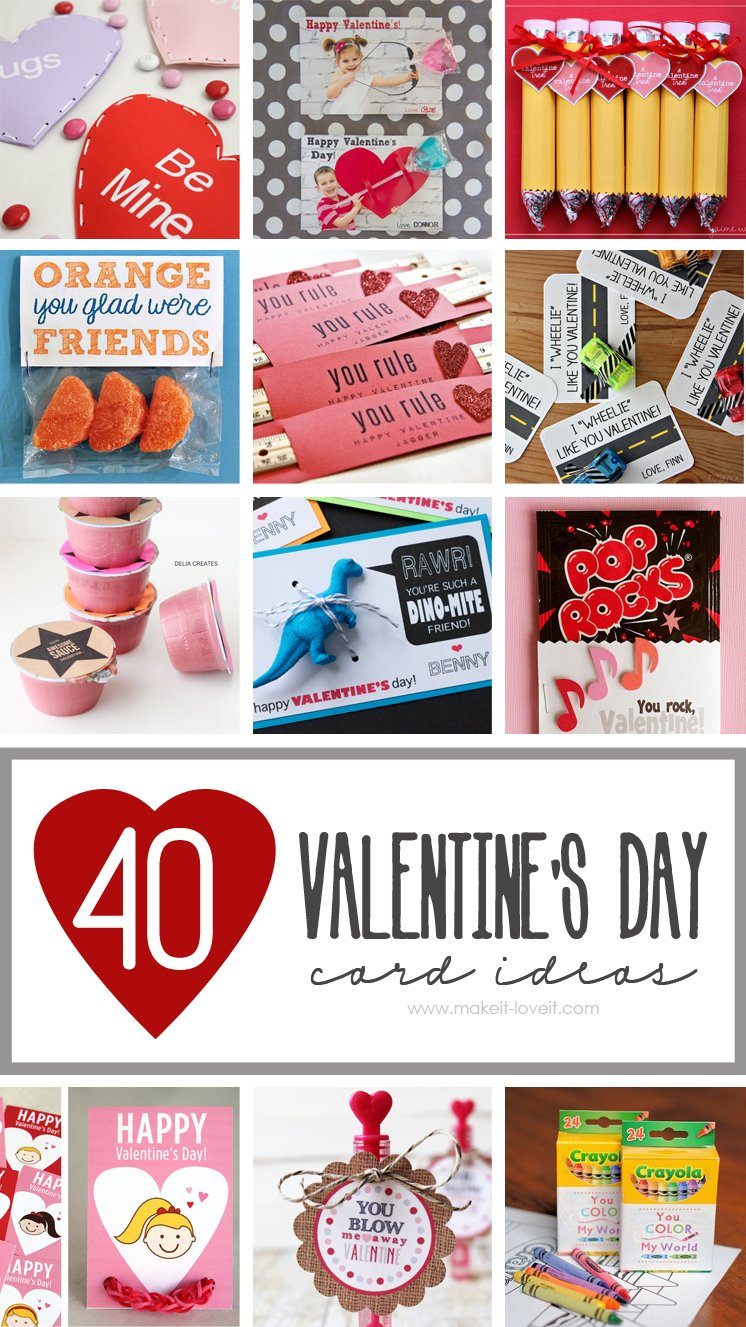 40 DIY Valentines Day Card Ideas for kids – Valentines Cards Craft Ideas