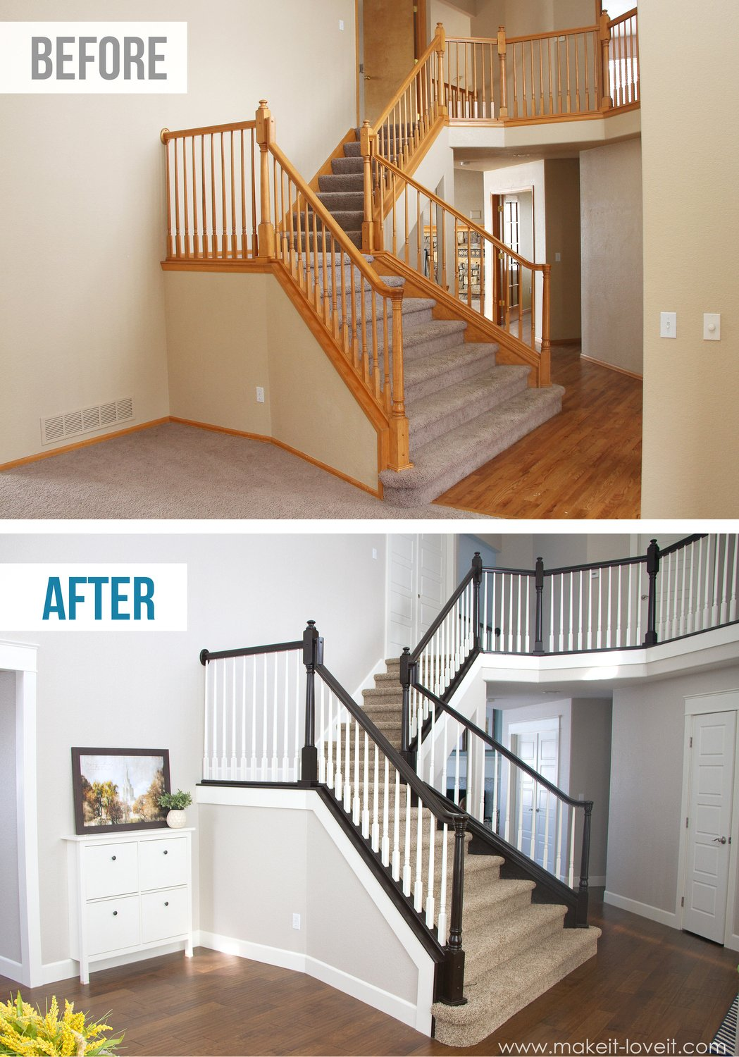 How To StainPaint An Oak Banister the Shortcut Method