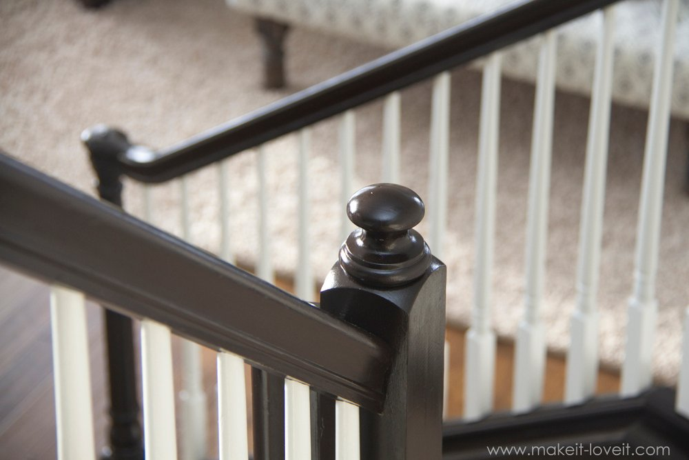 How To Stain Paint An Oak Banister The Shortcut Method No Sanding Needed Make It And Love It
