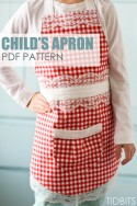 Gingham Apron (a variation of the Child's Apron) | via Make It and Love It