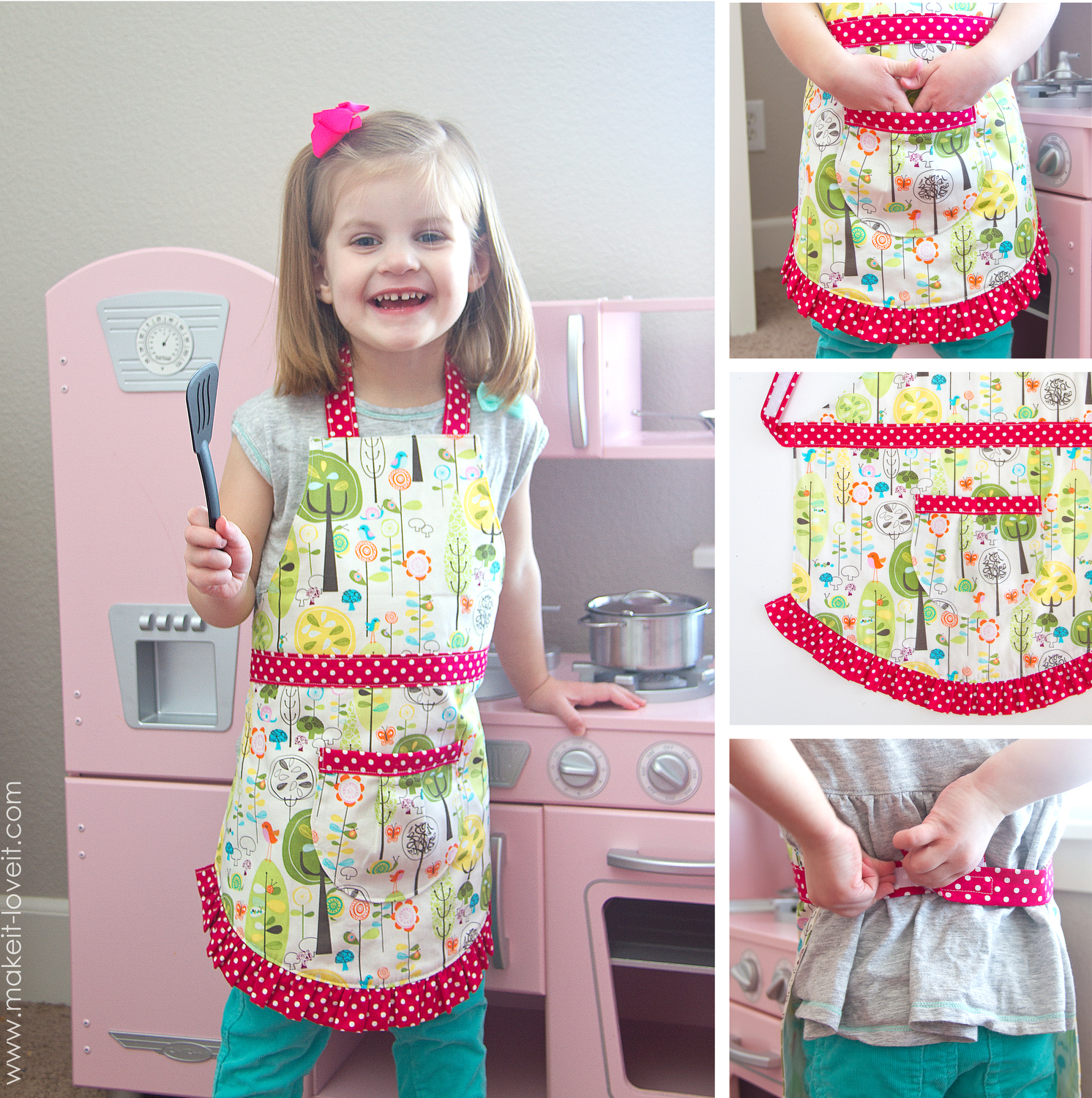 Farmhouse Gingham Apron a variation of the Child s Apron pattern