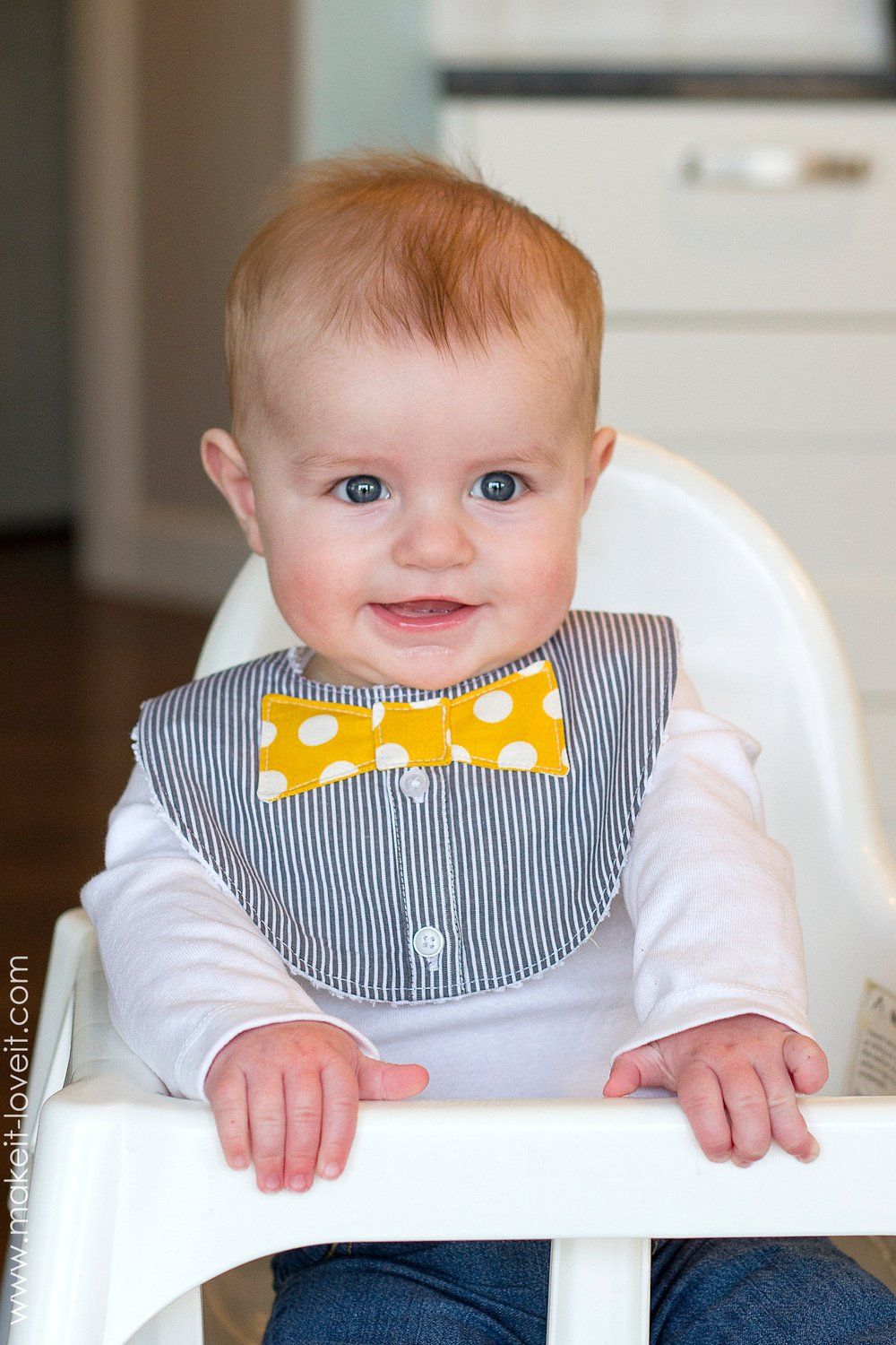 Bow Tie Drool Bibs…for BOYS! (from a Men's shirt)