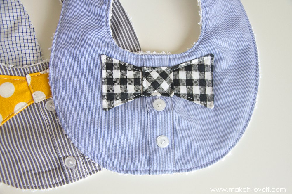 Bow Tie Drool Bibs For Boys From A Men 39 S Shirt