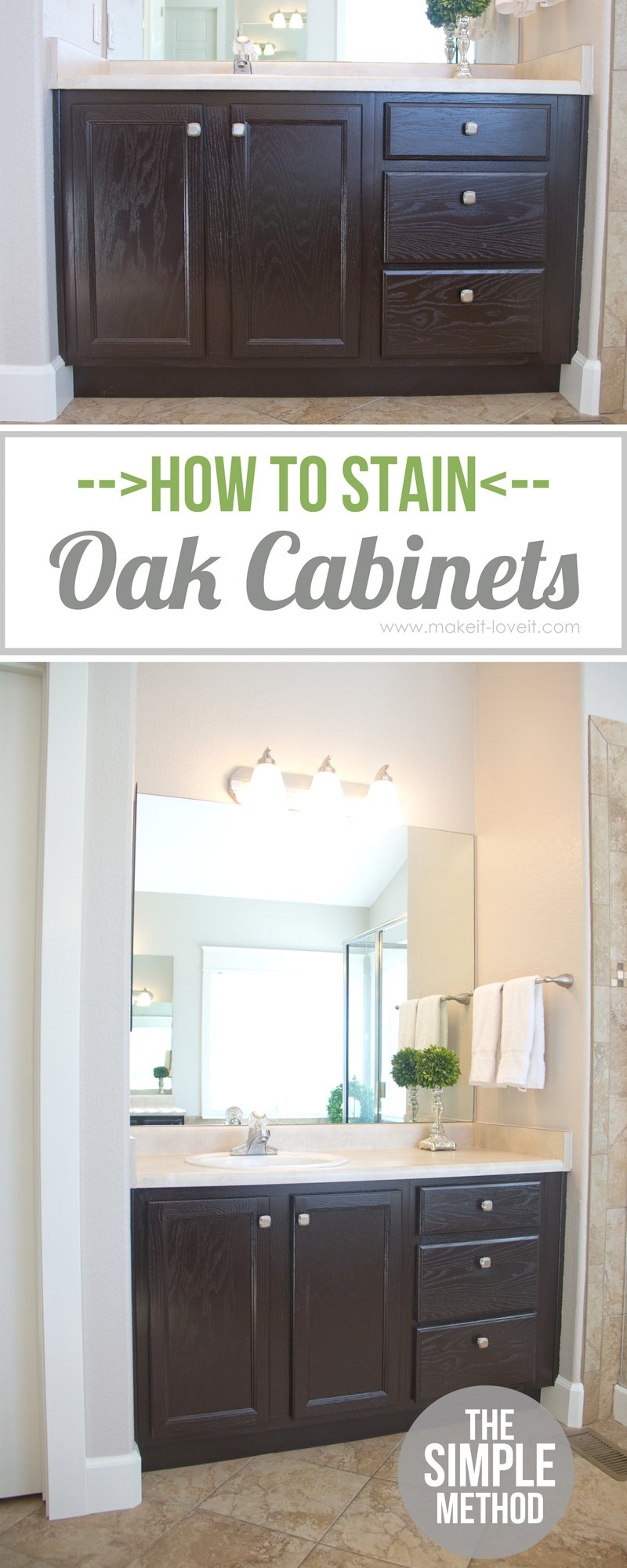 how to stain oak cabinets the simple method without sanding gel stain kitchen cabinets How to Stain OAK Cabinets the simple method no sanding necessary