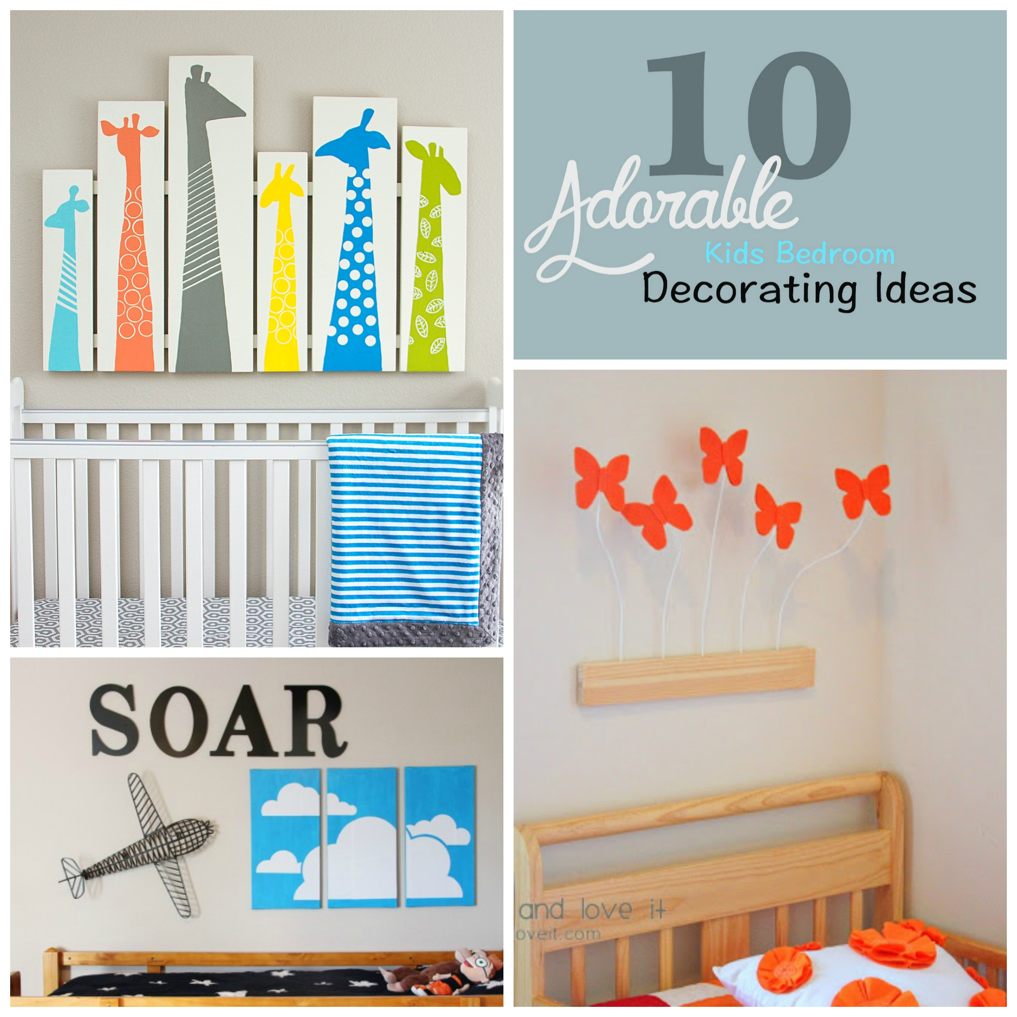 10 Adorable Kids Bedroom Decorating Ideas
