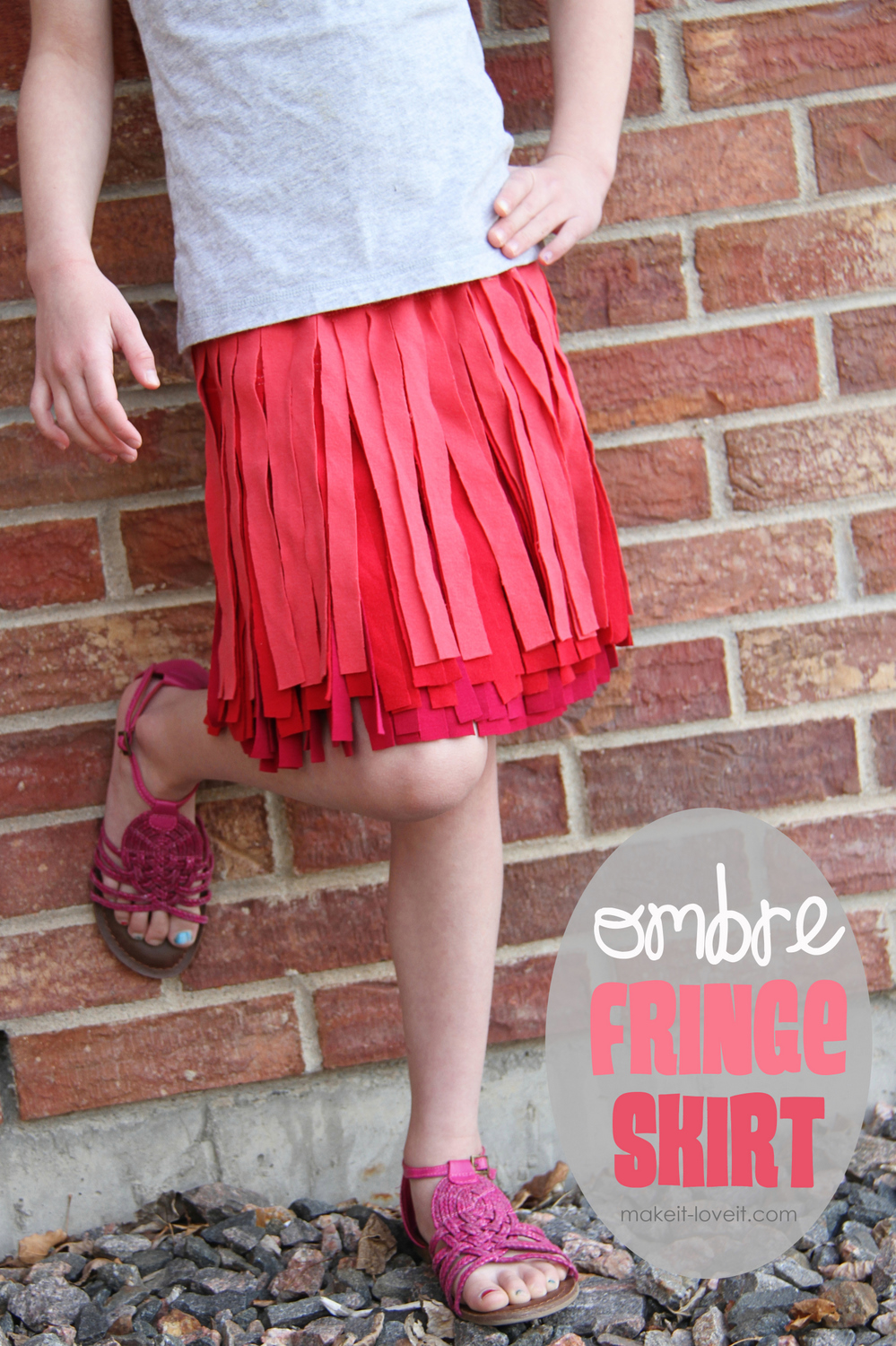 Making Ruffled Skirts From T Shirt For Kids