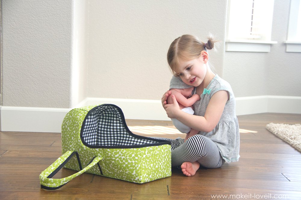 fabric baby doll basket carrier 8