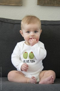 "DIY ""Olive You"" Stenciled Shirt (...for Valentine's Day or any other day of the year!) 