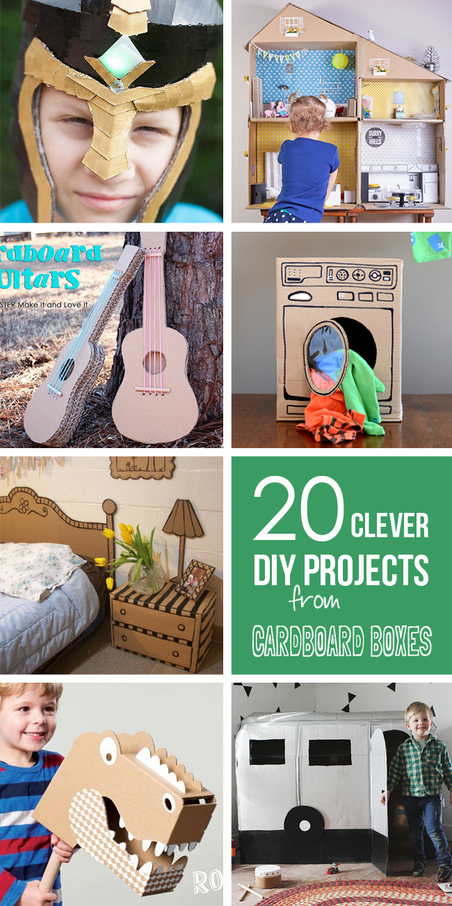 20 Clever DIY projects using old CARDBOARD BOXES!!