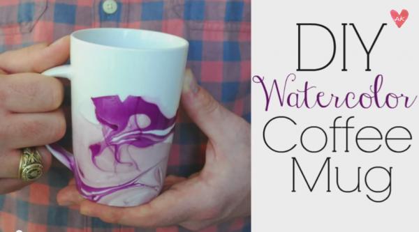 Easy DIY Watercolor Mugs