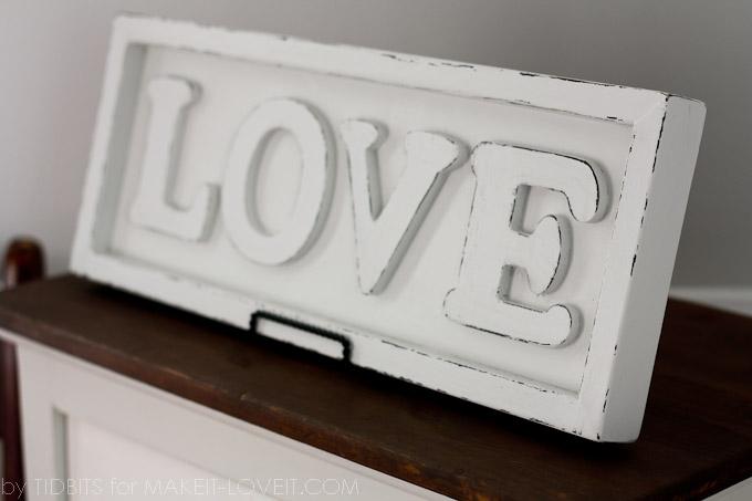 DIY: Pottery Barn inspired LOVE ART | via Make It and Love It