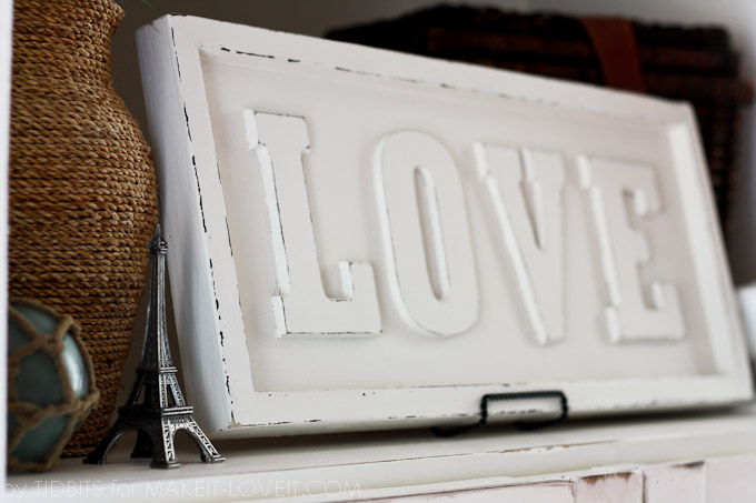 DIY: Pottery Barn inspired LOVE ART | via Make It and Love It
