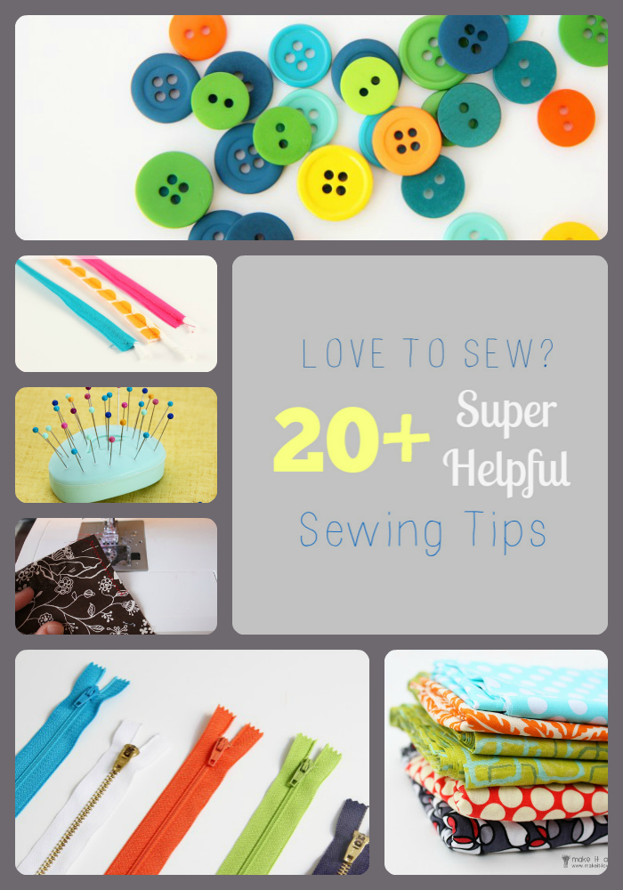 Love to Sew?  Here are 20+ SUPER HELPFUL Sewing Tips