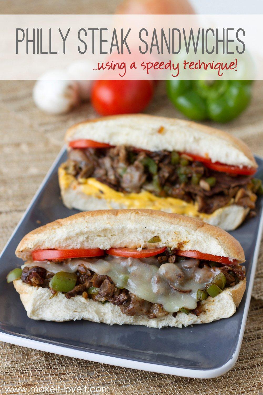 Philly Steak Sandwiches…using a speedy kitchen technique!