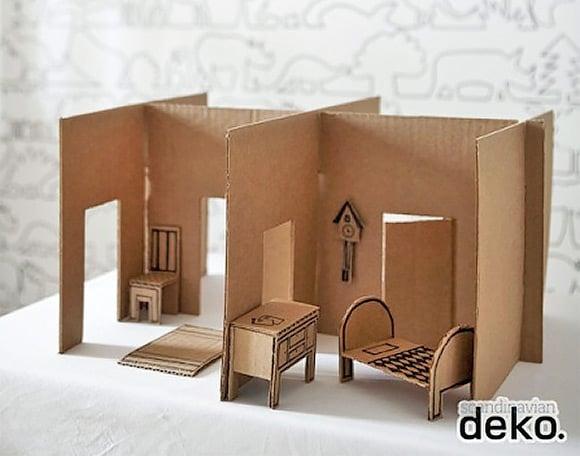 Мебель и домики из картона своими руками