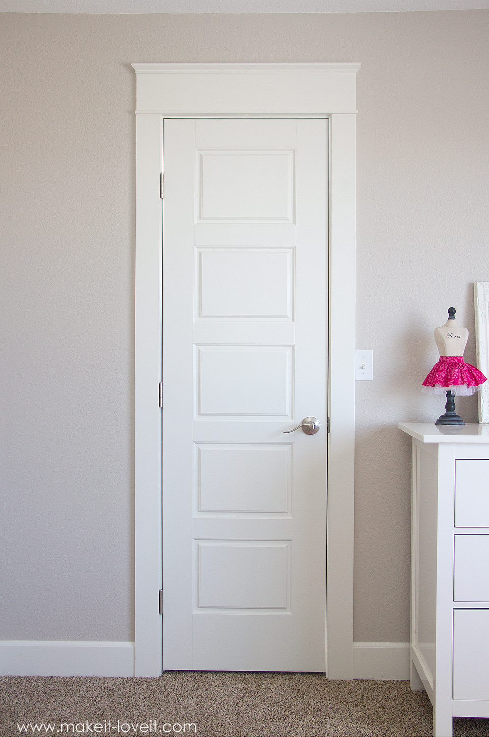 Installing a Pre-Hung Door (the EASY way)….and Trimming Out a Door (aka: adding molding)