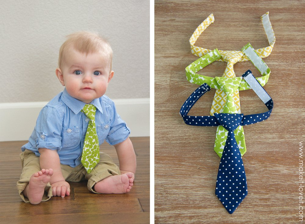 """The """"Little Guy Neck Tie"""" --- a PDF pattern (sizes 0-3 months - 3T) 
