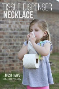 Tissue Dispenser Necklace...perfect for allergy season! (UPDATE: APRIL FOOLS')
