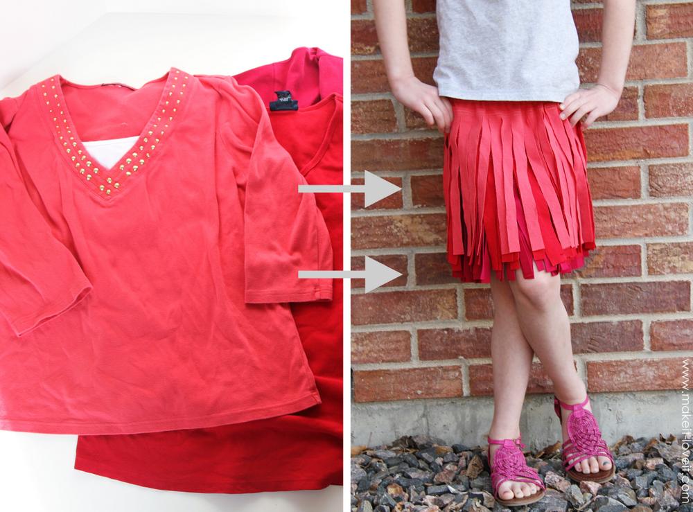 1 shirts-into-fringe-skirt