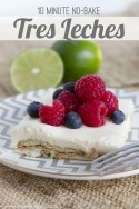 10 minute No-Bake Tres Leches Dessert...light, creamy, and refreshing! | via Make It and Love It -- In the Kitchen