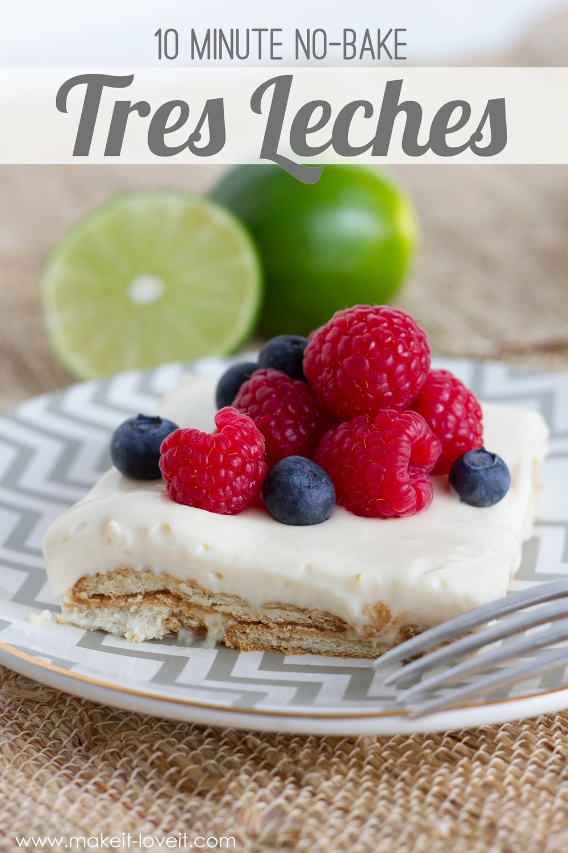 10 minute No-Bake TRES LECHES Dessert