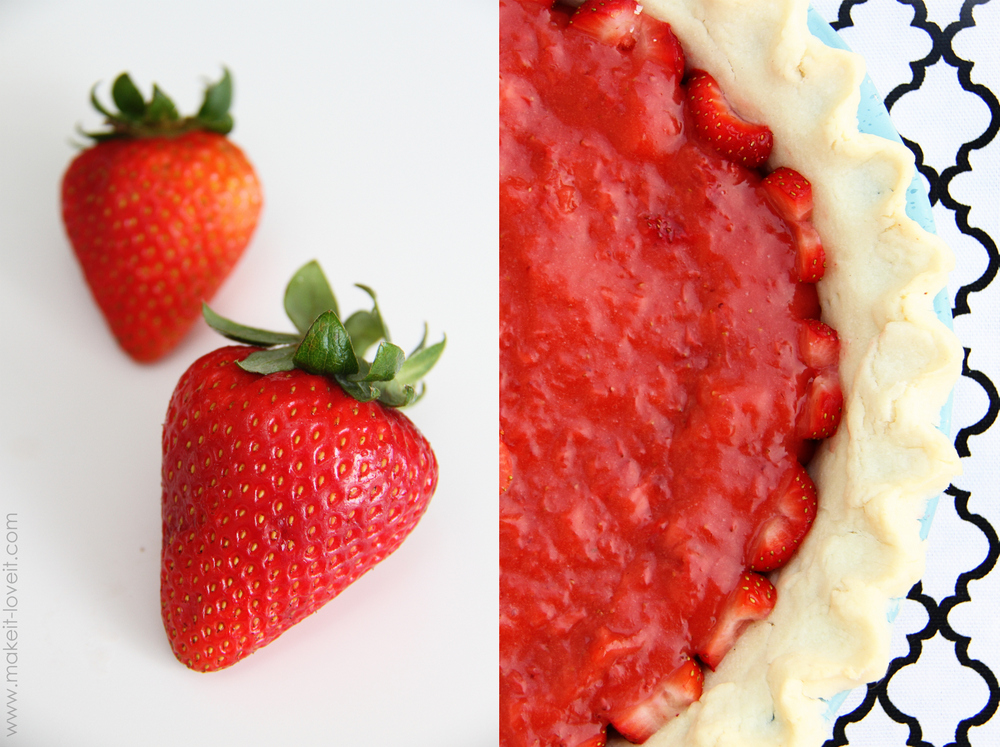 Fresh Strawberry Pie….only 3 ingredients via Make It and Love It