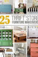 25 AMAZING Thrift Store Furniture Makeovers | via Make It and Love It