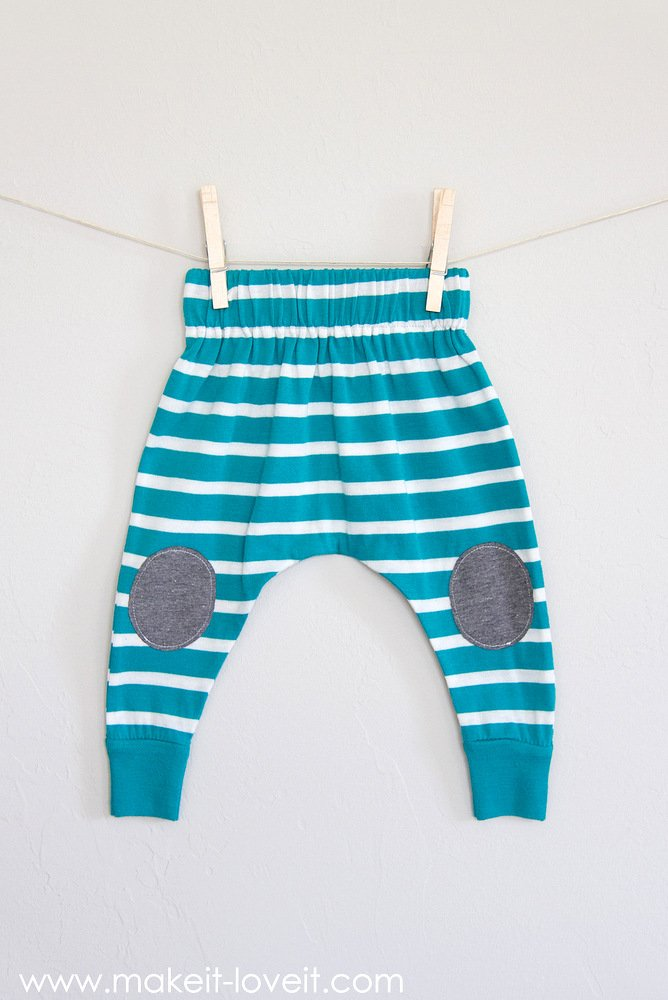 20-minute Baby Boho Leggings (…from an old shirt)!!