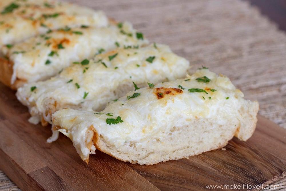 Cheesy Ricotta Bread...a delicious yet quick side dish! | via Make It and Love It