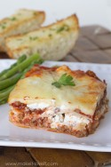 Creamy and Cheesy Lasagna...a treasured FAMILY RECIPE!! | via Make It and Love It...in the KITCHEN