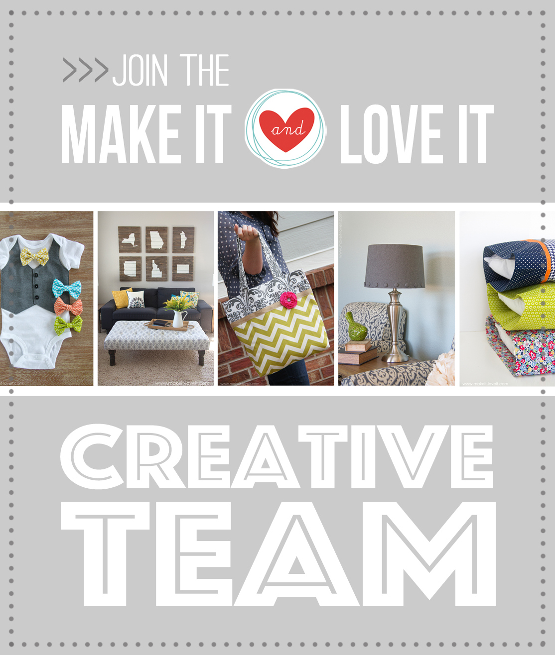 JOIN the Make It And Love It Team!