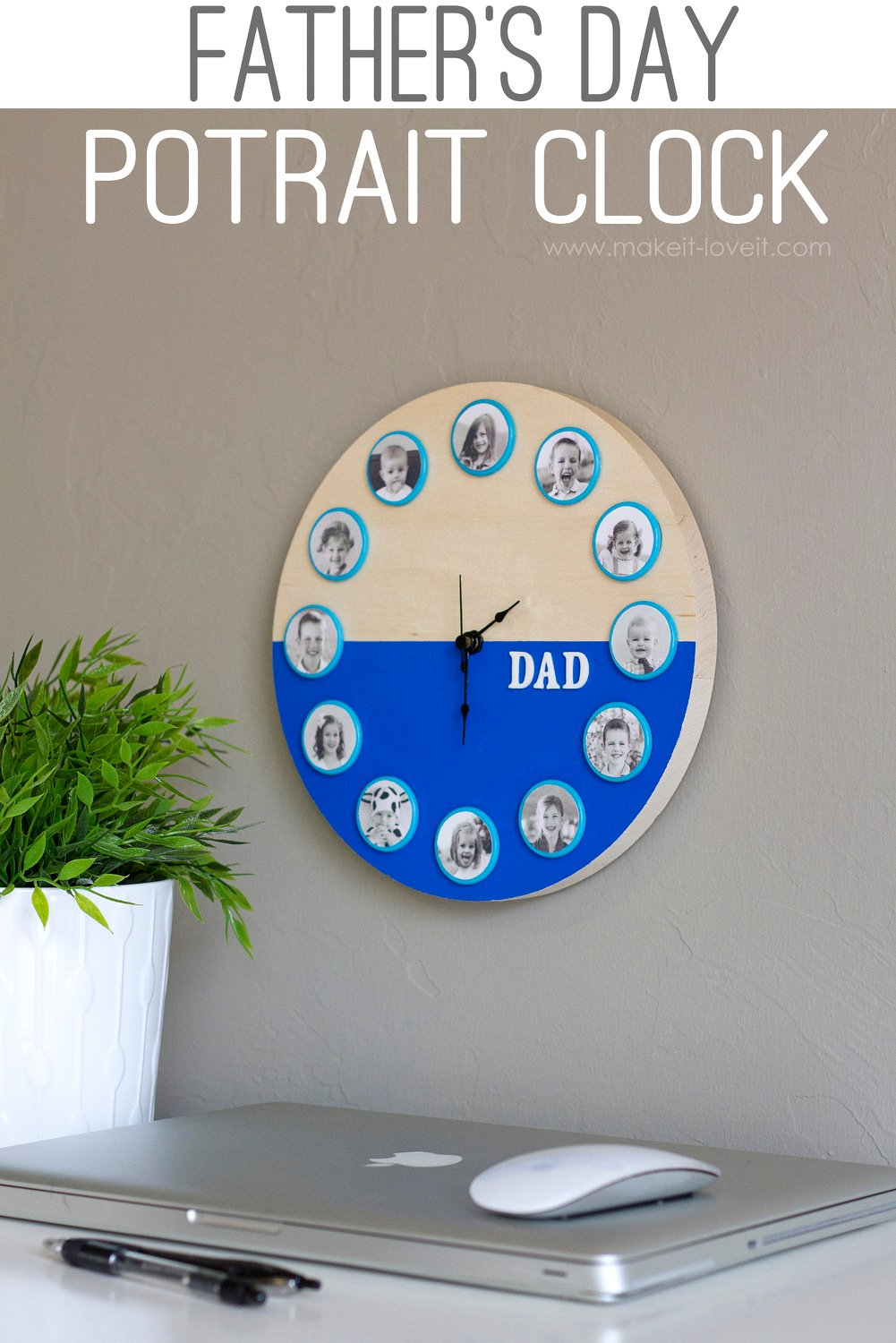 Father's Day (or Mother's Day) Portrait Clock